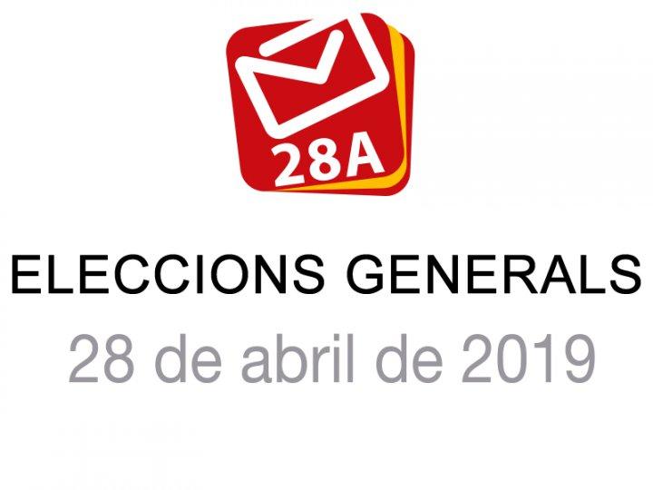 Resultats de les Eleccions Generals del 28 d'abril