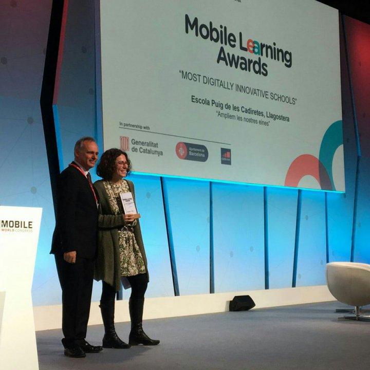 Premi Mobile Learning Awards per l'Escola Puig de les Cadiretes