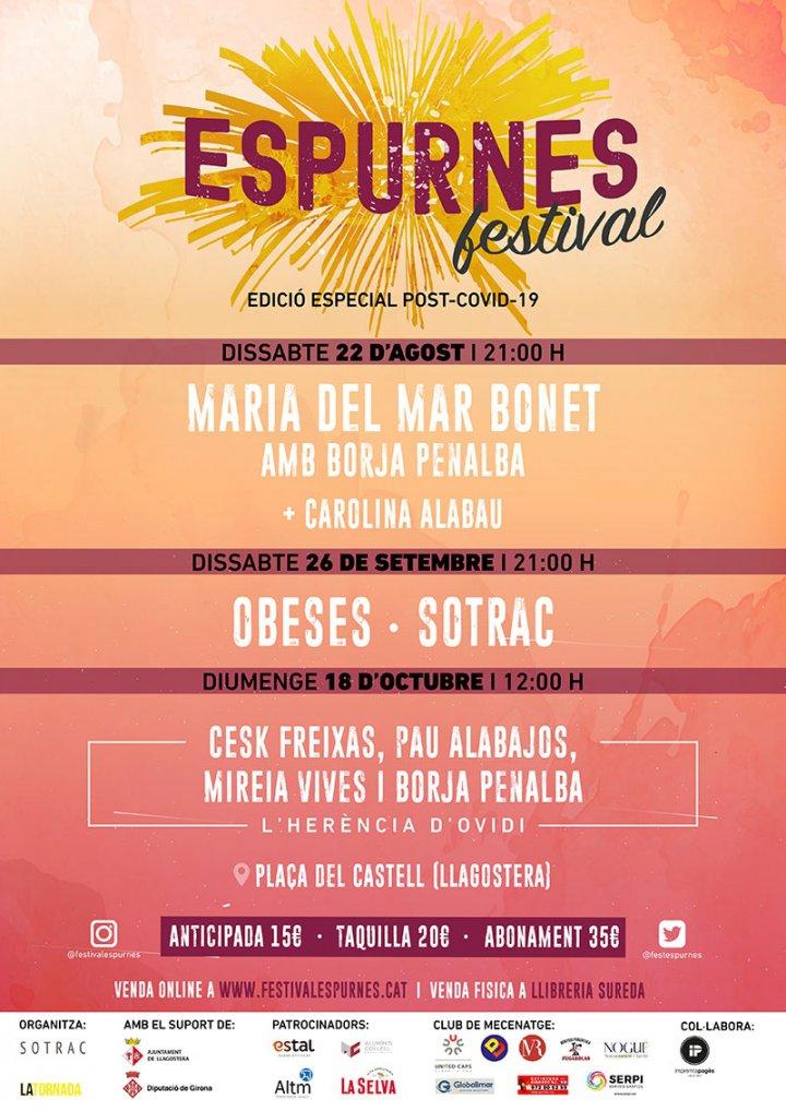 Maria del Mar Bonet, Obeses i un espectacle en record d'Ovidi Montllor a l'Espurnes de Llagostera