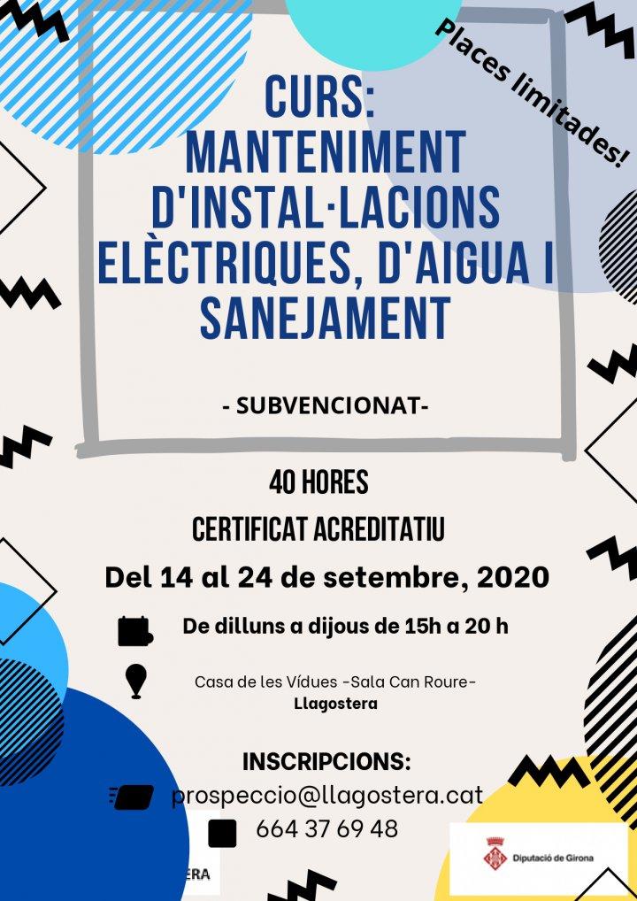 Curs de manteniment d'instal·lacions elèctriques, d'aigua i sanejament