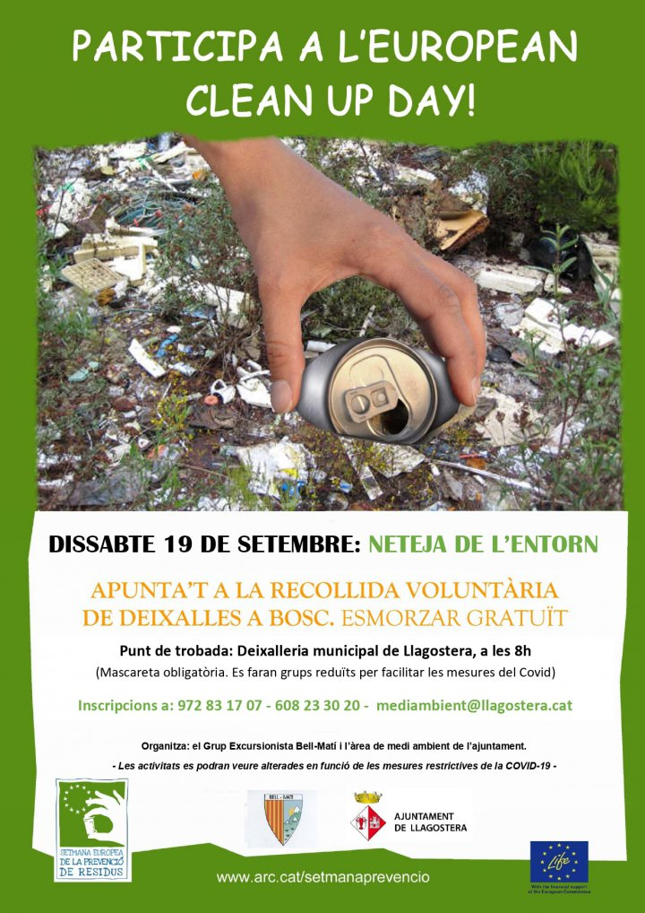 Jornada de Clean Up Day a Llagostera