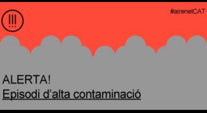 Episodi d'alta contaminació per partícules a tot Catalunya