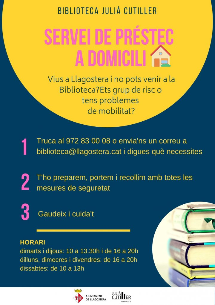 Servei de préstec a domicili de la Biblioteca Julià Cutiller