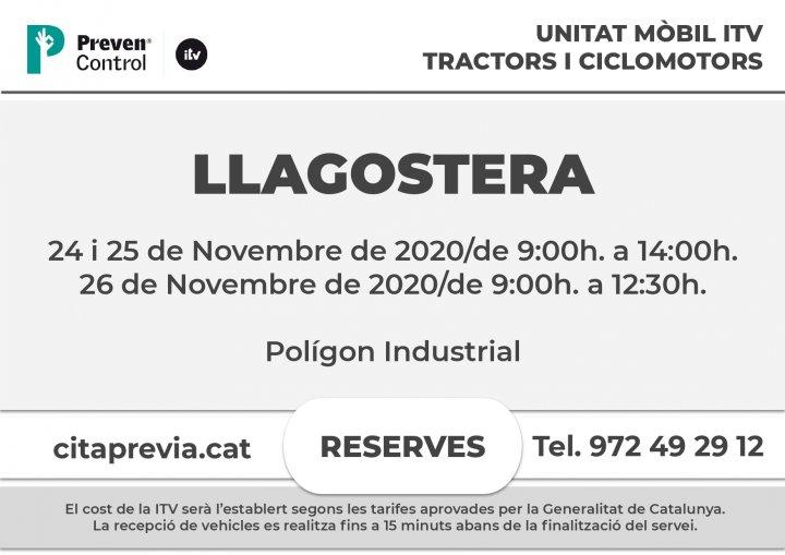 Unitat mòbil ITV a Llagostera