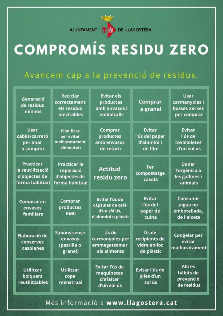 "Campanya ""Compromís Residu Zero"" a Llagostera"