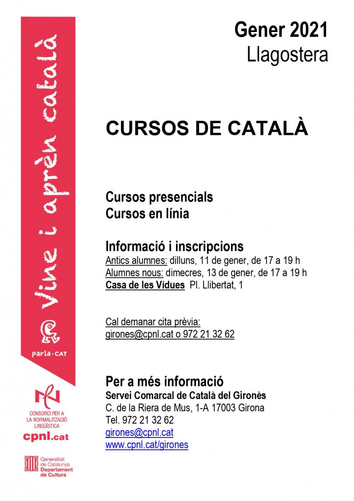 Nous cursos de català a Llagostera