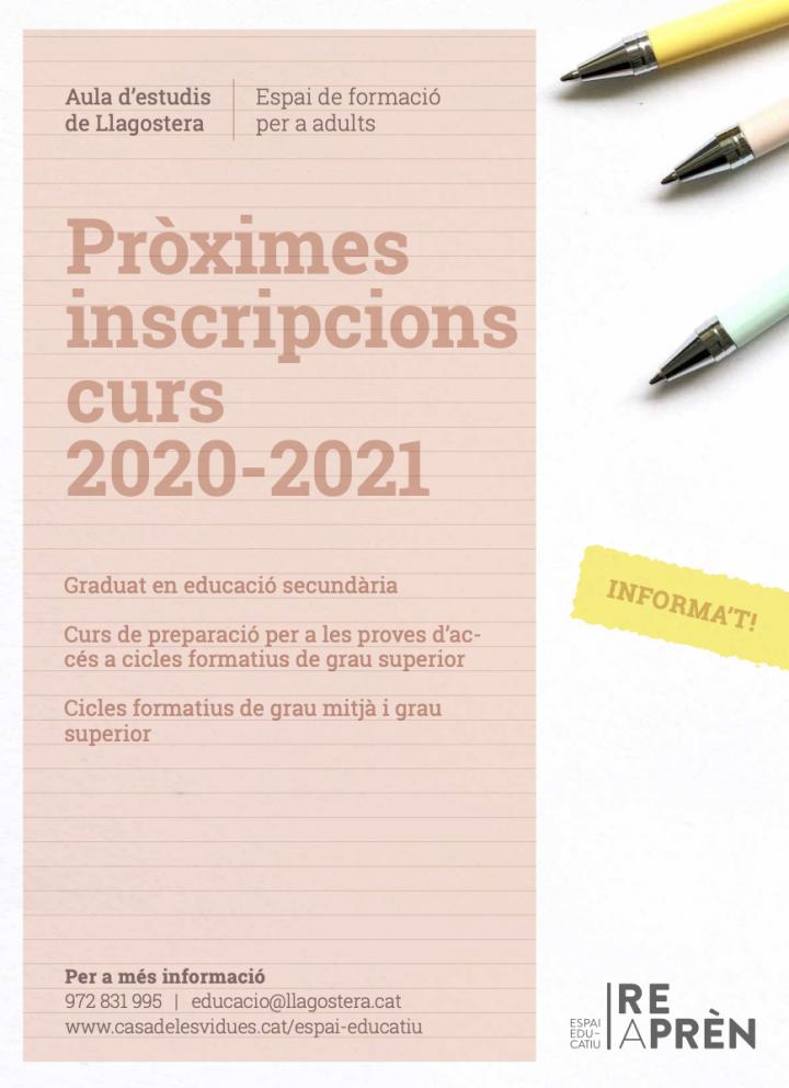 Nou període d'inscripcions del Graduat d'Educació Secundària a través de l'Institut Obert de Catalunya