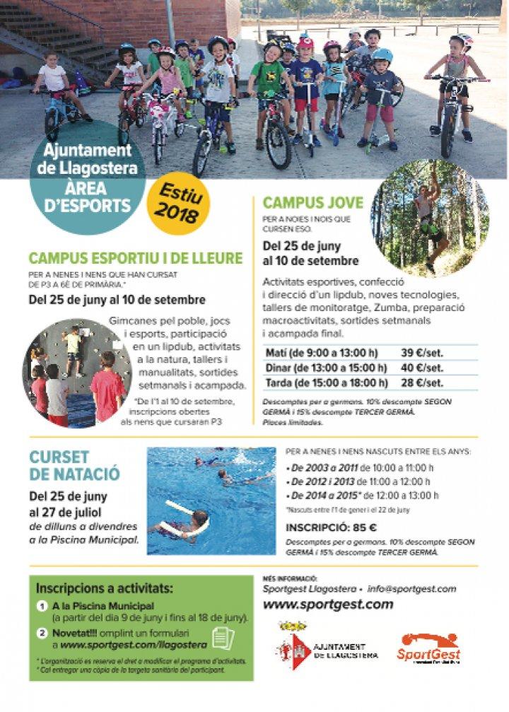 Activitats esportives d'estiu i piscines municipals