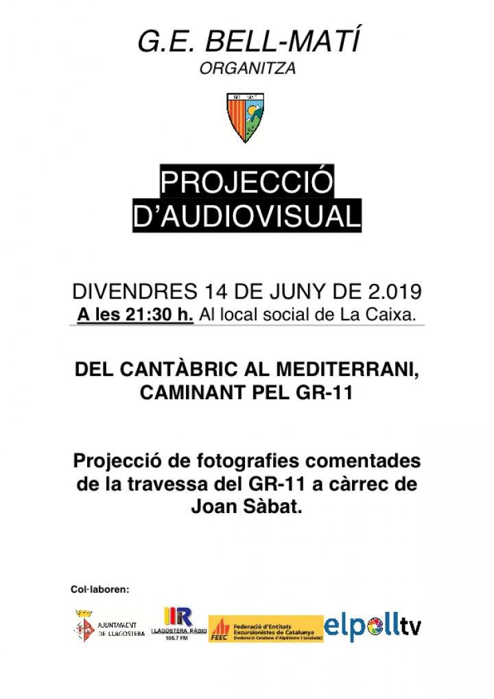 Projecció audiovisual