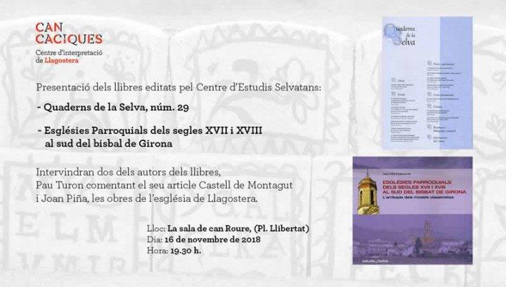 Presentació de dos llibres editats pel Centre d'Estudis Selvatans