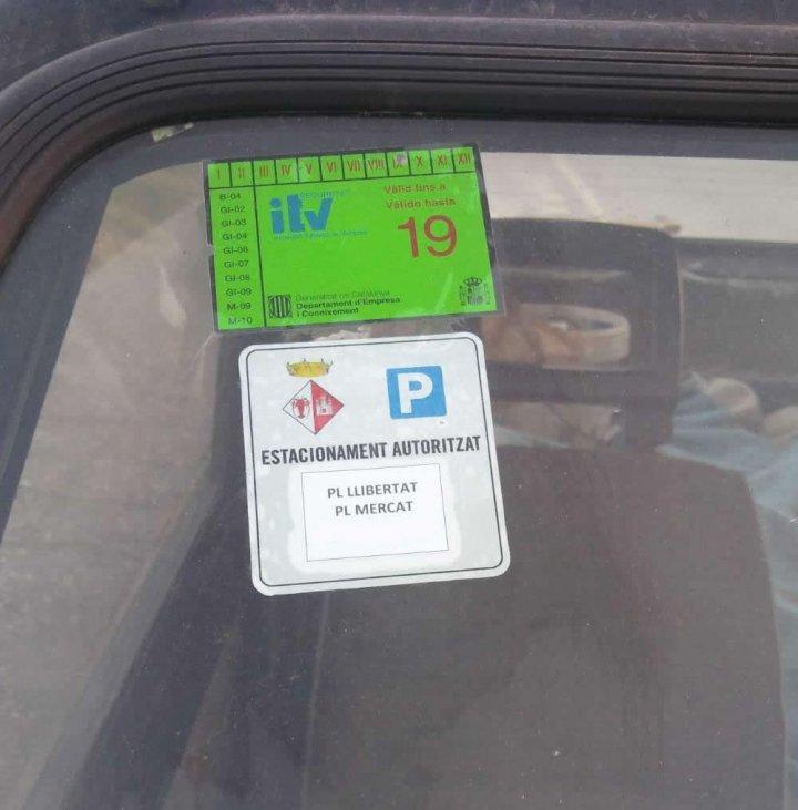 Nou sistema de distintius d'aparcament al nucli antic
