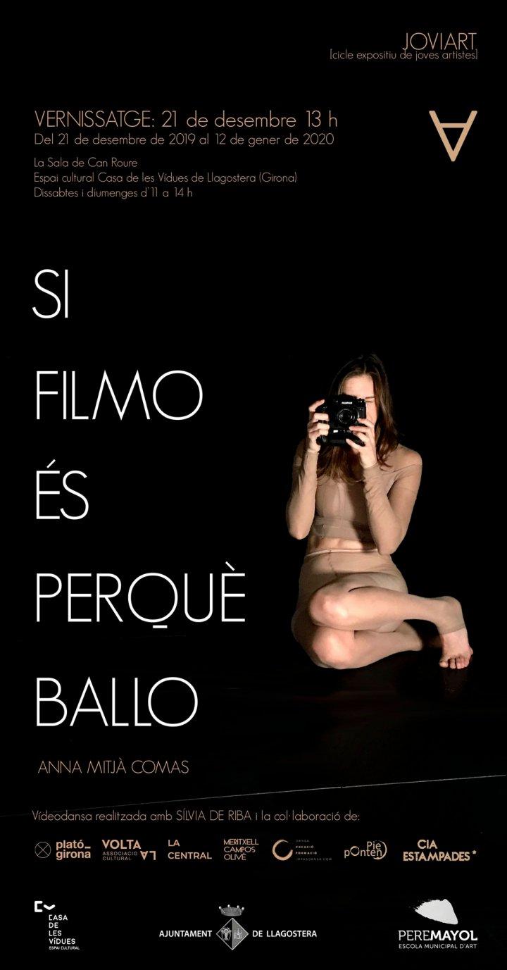 Vernissatge de l'exposició de vídeo Si filmo és perquè ballo d'Anna Mitjà
