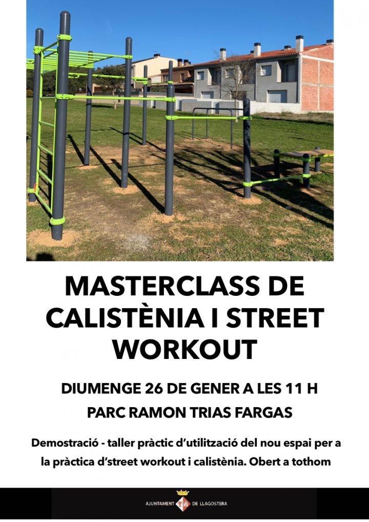 Masterclass de calistènia i street workout