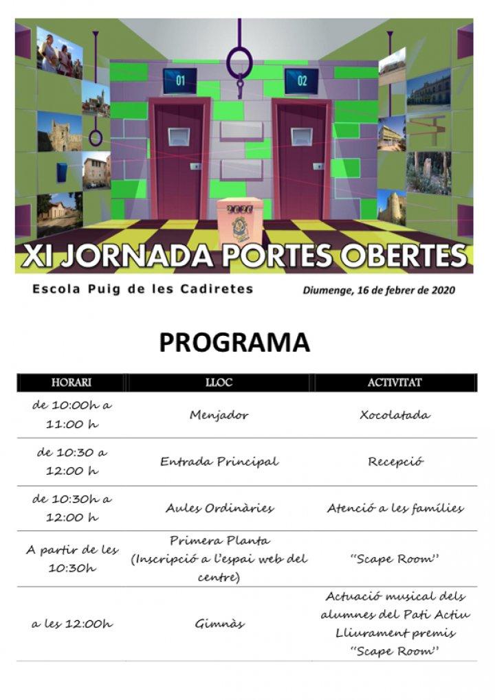Jornada de Portes Obertes a l'Escola Puig de Cadiretes