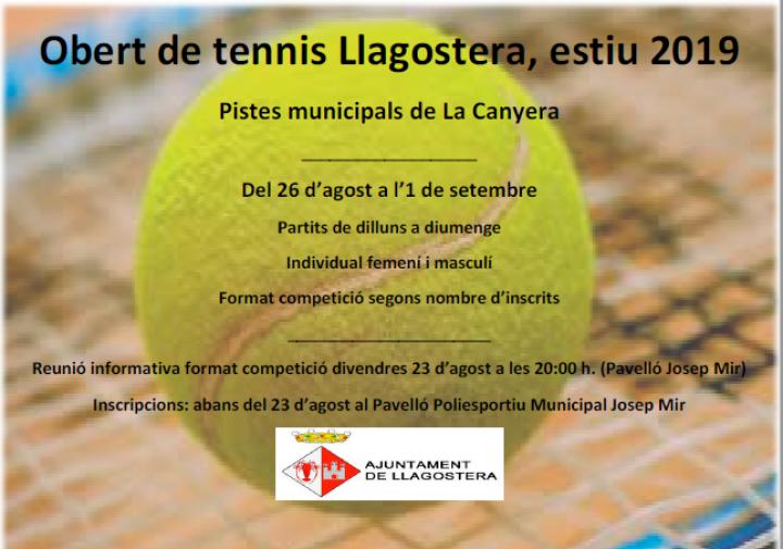Obert de tennis Llagostera