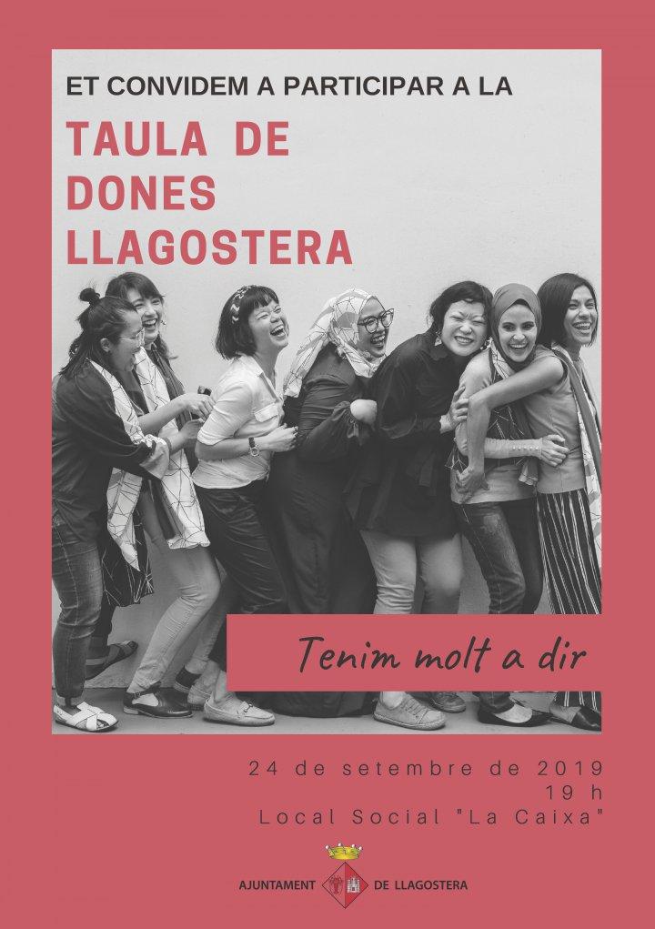 L'Ajuntament de Llagostera organitza la Taula de Dones