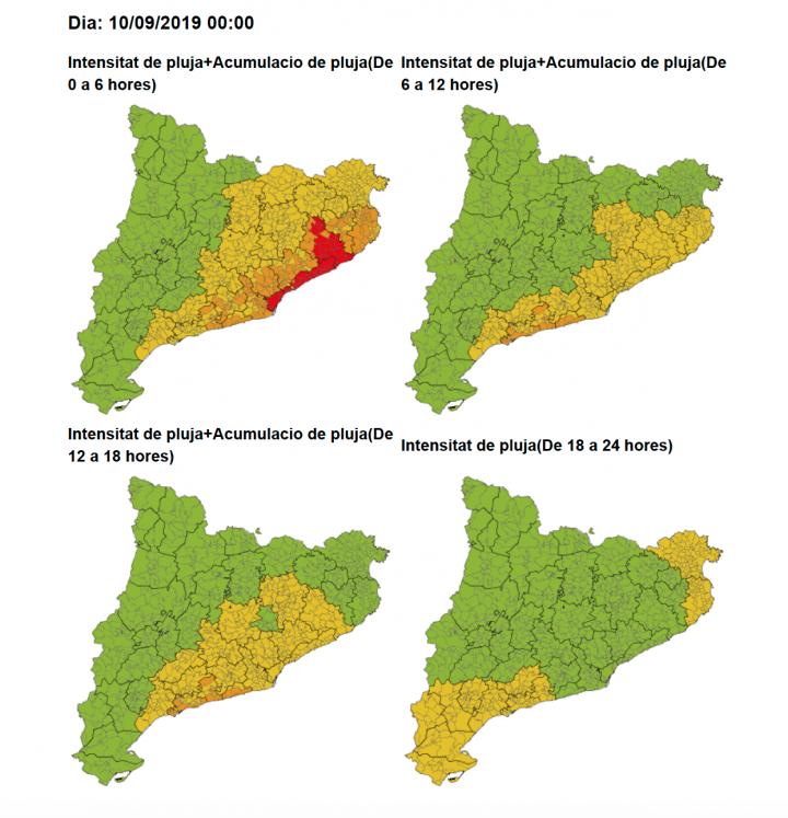 Activada l'alerta del Pla Especial d'Emergències per Inundacions de Catalunya INUNCAT