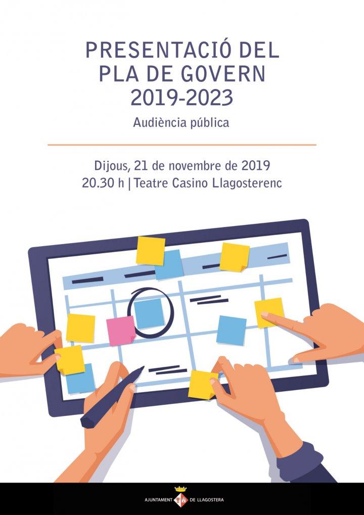 Presentació pública del Pla de Govern 2019-2023