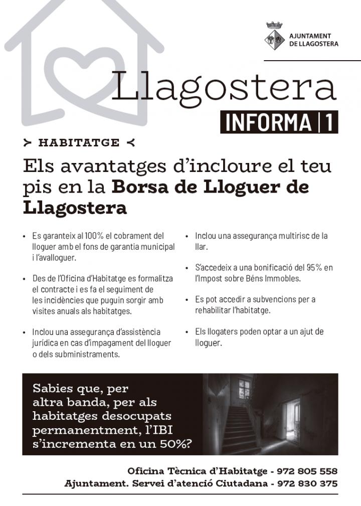 Avantatges d'incloure el teu pis en la Borsa de Lloguer de Llagostera