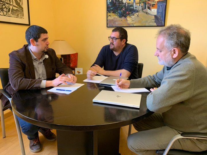 Visita institucional del vicepresident de la Diputació de Girona