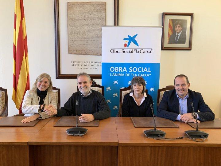 """7.700 € de l'Obra Social """"la Caixa"""" al Patronat de la Residència Josep Baulida"""