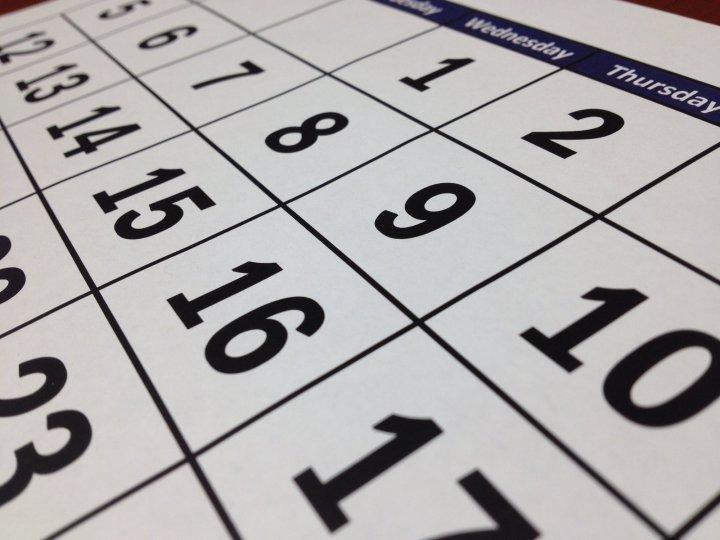 Calendari esportiu setmanal