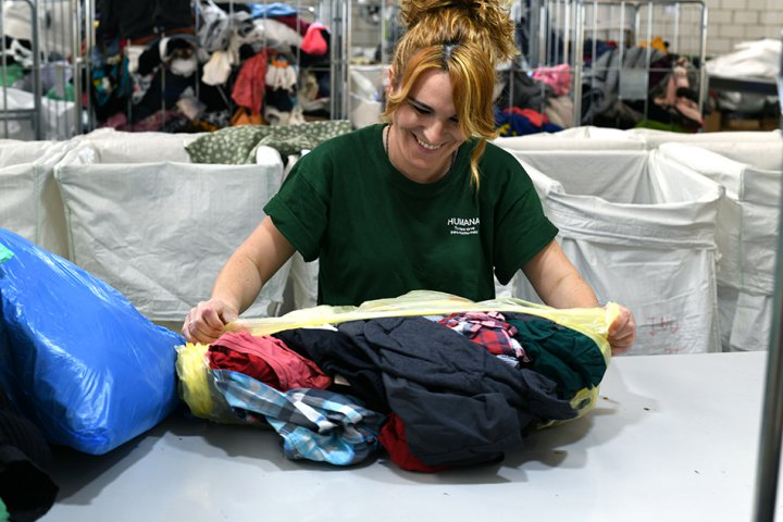 11.093 kg de tèxtil usat recollits Llagostera