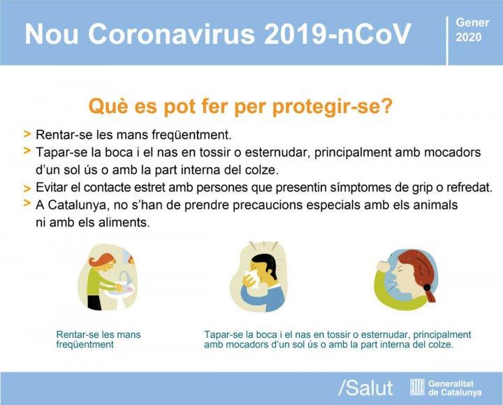 Quines mesures podem prendre per protegir-nos del Coronavirus?