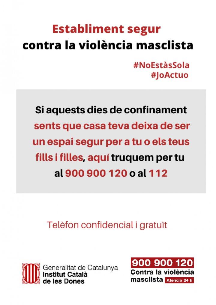 Campanya Establiment segur contra la violència masclista