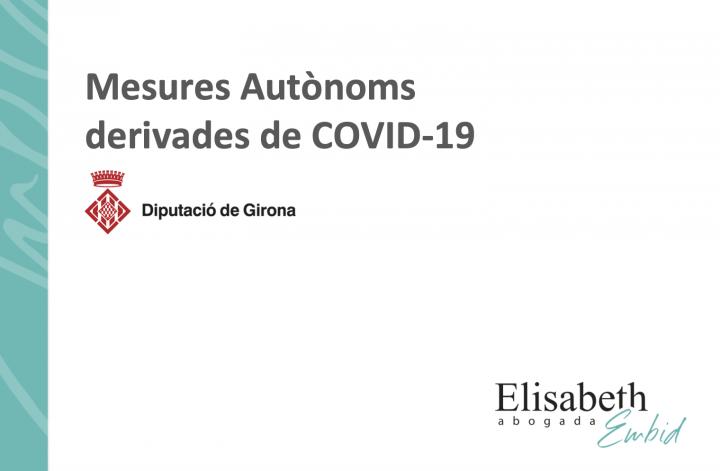 Document informatiu sobre ajuts als autònoms en el marc de la crisi de la COVID-19