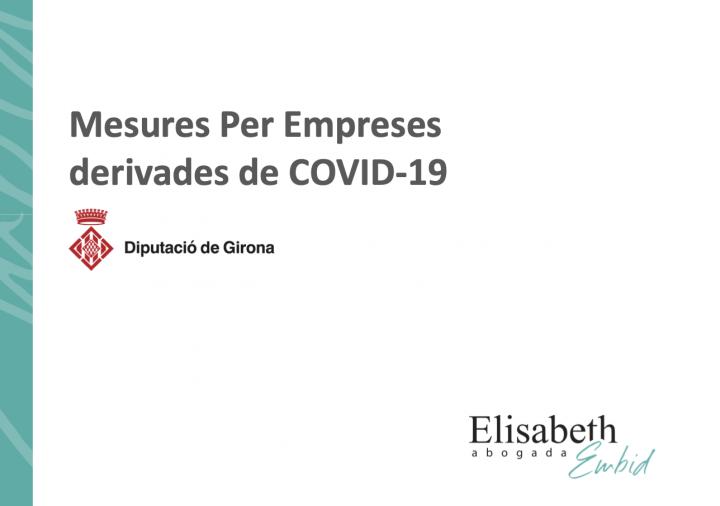 Document informatiu per a les empreses sobre les mesures derivades de la COVID-19