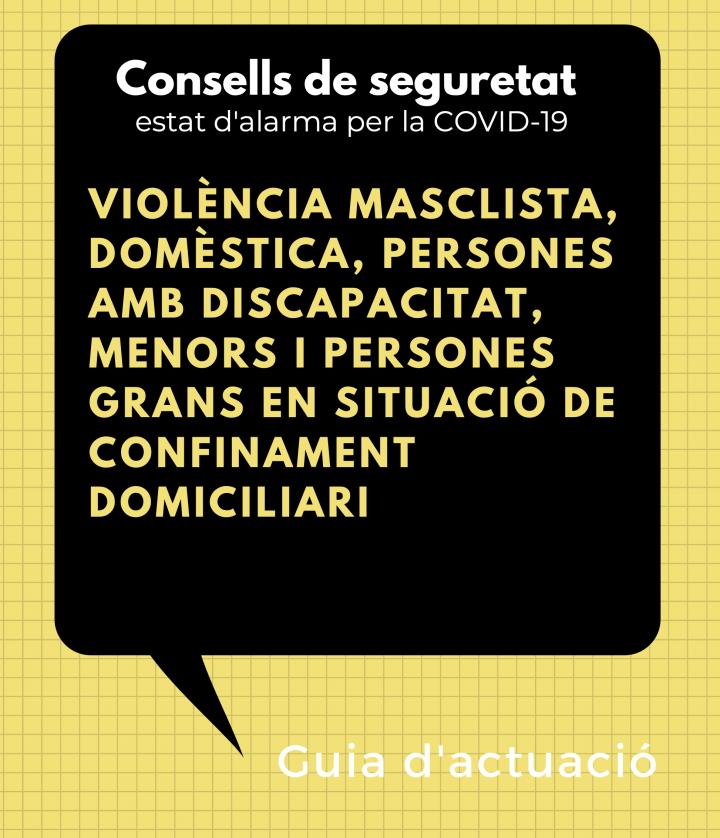Guia d'actuació per abordar els casos de violència masclista i domèstica durant el confinament