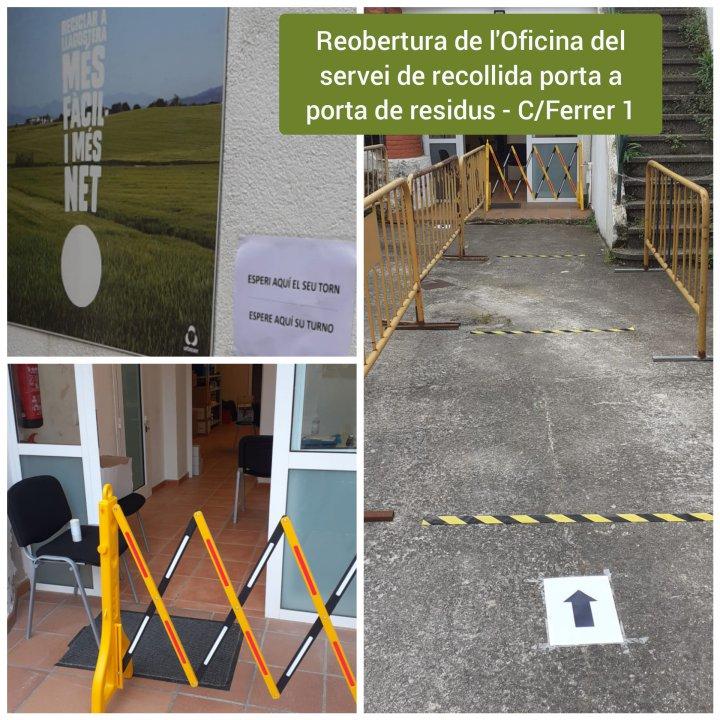 Reobertura de l'Oficina del servei de recollida de residus