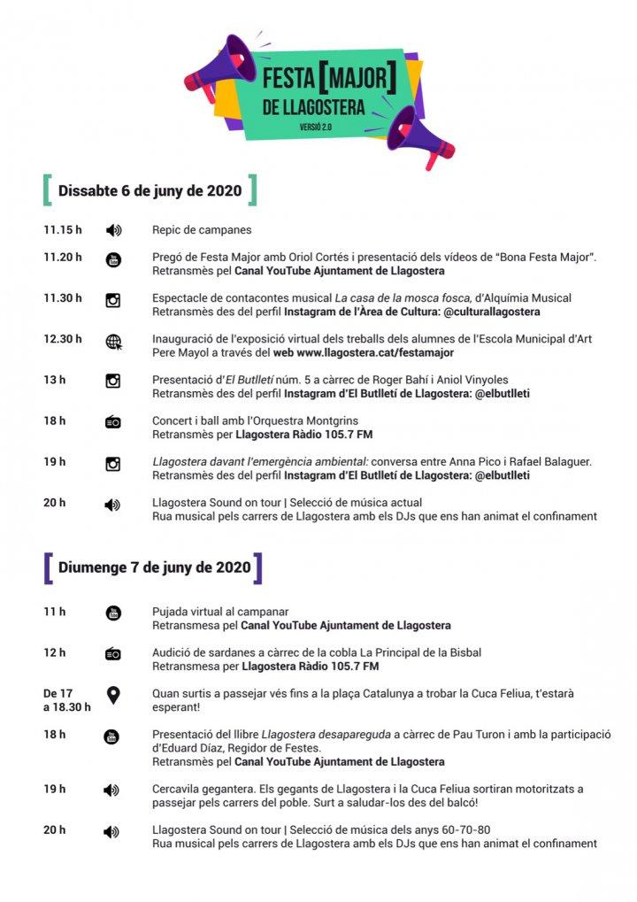 La Festa Major versió 2.0 arriba aquest 6 i 7 de juny